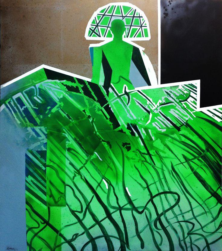 """""""MENINA SIGLO XXI"""", Cristina Santander. Óleo sobre tela, 200 x 170 cm, 2014."""