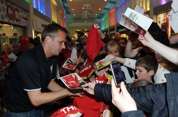 Didi Hamann signs autographs at the opening of the Official Liverpool FC Store Dublin