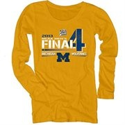 Michigan Wolverines 2013 Men's Basketball Tournament Ladies Final Four Bound Vanish Long Sleeve T-Shirt