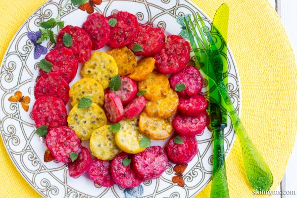 Prickly pears, refreshing, colorful and just delicious take the limelight in this simple salad ...
