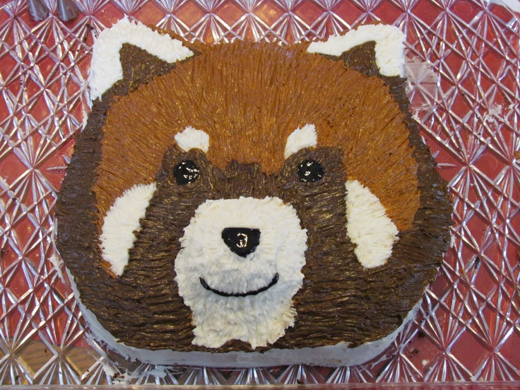 Red Panda cake I made for a birthday party tonight!!  Craft Ideas ...