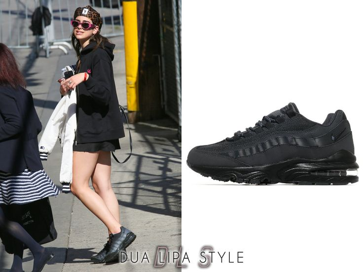 Arriving at Jimmy Kimmel Live | April 20, 2017  Nike Air Max 95 Junior - £70  worn with: Cartier Ring & Necklace, Alexander Wang x Kangol Cap, Hermes Earrings, Are You Am I Top, Alexander McQueen Hoodie, NY Yankees Jacket