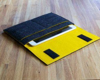 iPad Mini Case / iPad Mini Sleeve / iPad Mini Cover in Various Outer and Inner Colours of 100% Wool Felt