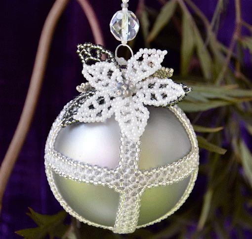 489 best Xmas Pics  beaded balls images on Pinterest  Beaded