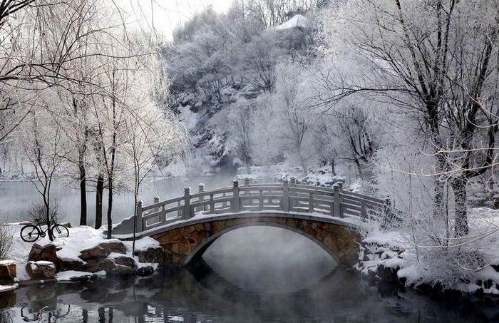 Cantiknya pemandangan saat musim dingin tweeps! Beauty of winter