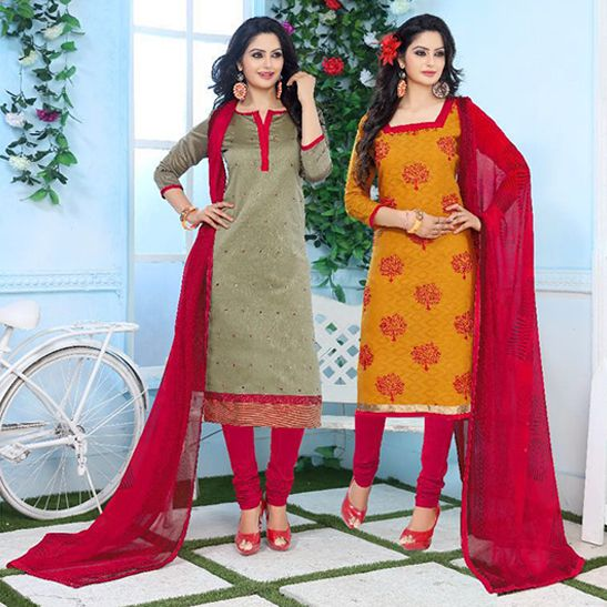 Shop Online In India   Women Apparel, Sari , Salwar Kameez,Kurtis,Lehengas@kavvyafashion: Kavvya 56 (12 PCS) Banarsi Jacquard Printed Salwar Kameez Suit