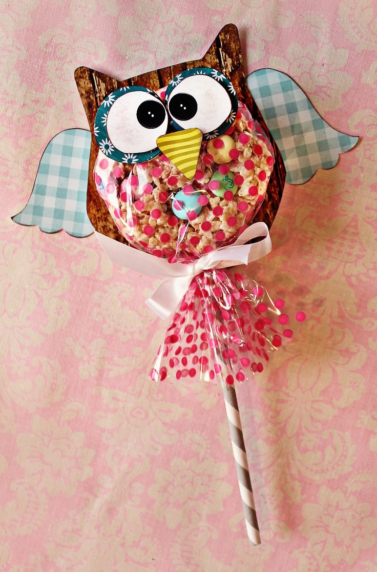 Hooo-Ray Custom Owl party favors via Etsy.