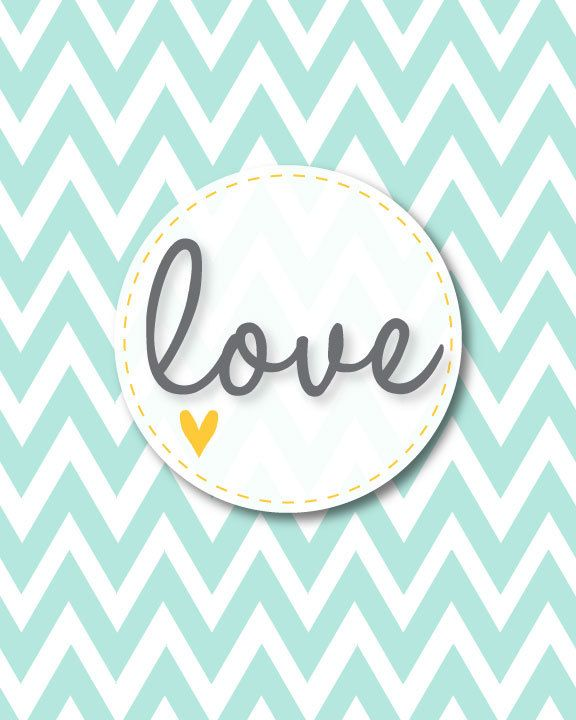 Chevron Love Printable