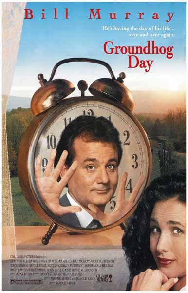 Groundhog Day Alarm Clock Bill Murray Movie Poster 11x17
