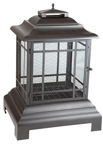 Fire Sense Rectangle Woodburning Pagoda Patio Fireplace