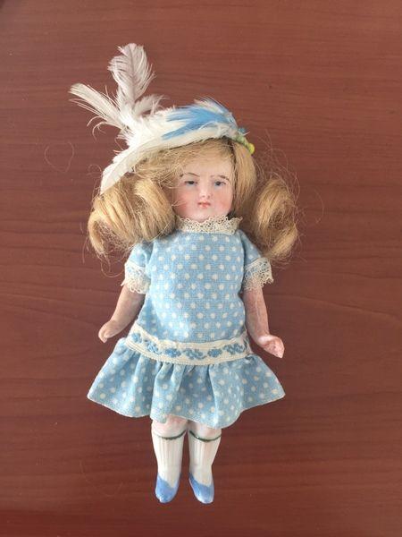 古董 vintage 德国陶瓷娃娃 收藏