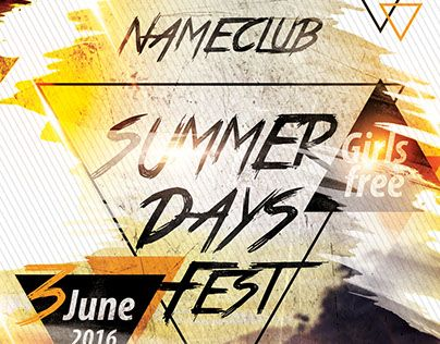 "Check out new work ""Summer Days Fest PSD Flyer Template"" #summer #days #festival #party"