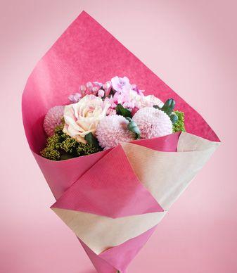 Emballage facile à réaliser pour vos bouquets #wrapping #bouquet #flower #kraft