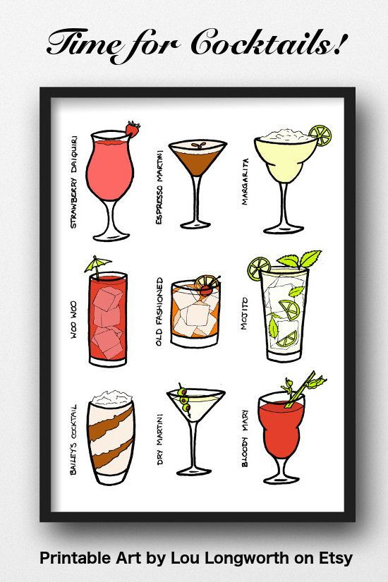 picture about Printable Glassware referred to as A4 Printable Cocktail Wall Artwork - print on your own and body