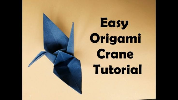 Origami Crane Easy Tutorial - Easy Origami for Beginners