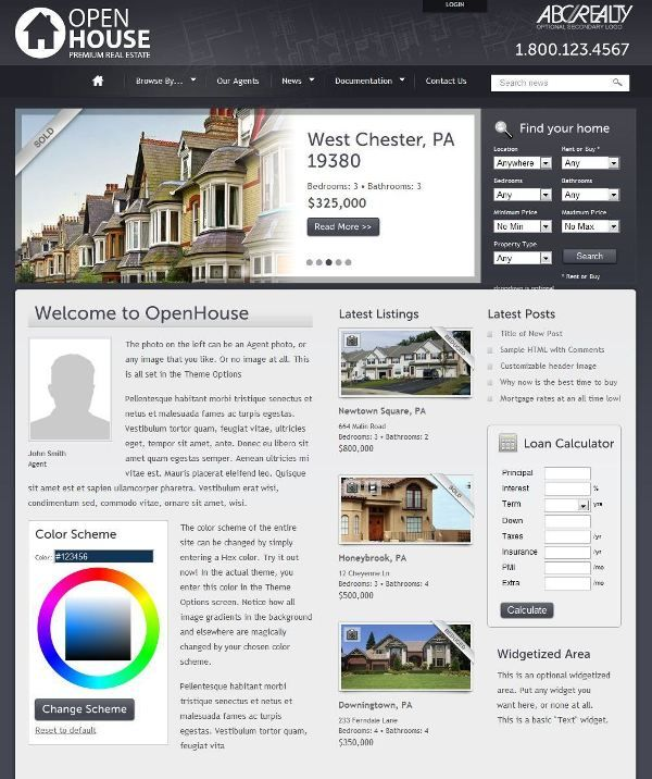 [WordPress] - Openhouse Real Estate Wordpress Theme | Xtratheme.com