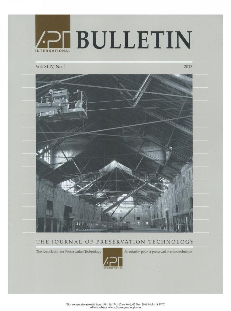 APT Bulletin Vol. 44, No. 1, 2013