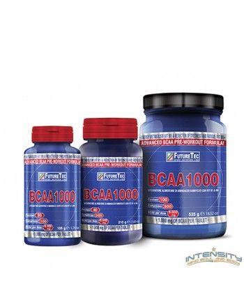 INTEGRATORE PER SPORTIVI A BASE DI AMINOACIDI RAMIFICATI CON VITAMINE B6 E B1 BCAA1000 è un integratore alimentare di aminoacidi a catena ramificata con vitamine B1 e B6. BCAA1000 è adatto ad integrare la dieta degli sportivi. I componenti di BCAA1000 intevengono nelle funzioni fisiologiche di: metaboli- smo energetico (vit B1), riduzione della stanchezza e dell'affaticamento (vit B6).