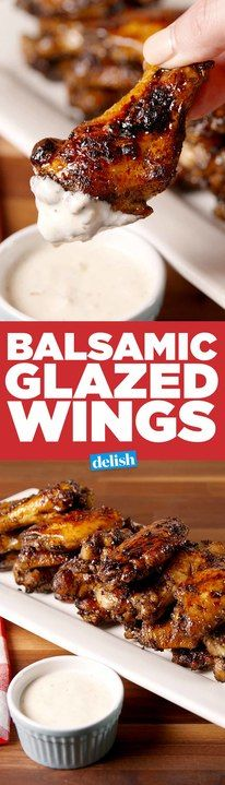 Balsamic Glazed Wings will make you forget all about buffalo sauce. Get the recipe from Delish.com.