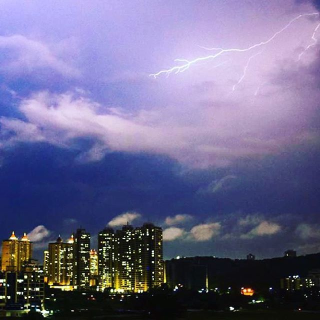 Rains in India                    Prithviraj Singha, Traveller,   Heavy lightning ⚡ showers in #mumbai❤ &  #thane  Part 3 ... ⚡⚡  #Follow  @realtythane   #awesome #nikonphotography   #landscape #prithviraj #Singha #ama #picgrid #photo #lit #lightning #weather #instacap #love #thunder #thunderstorm #beautiful #night #blue #shower #instadaily #dailyart #paradise #earthday #whatsapp #naturegram