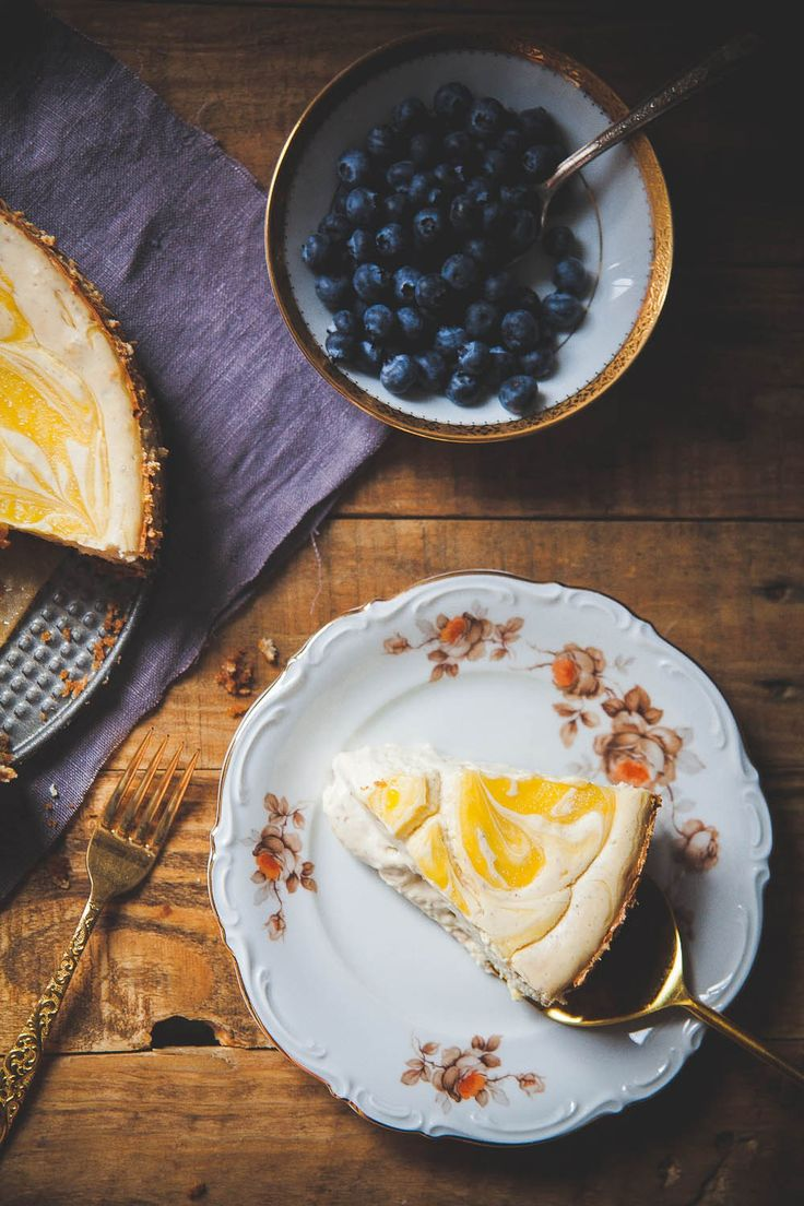 Lavender Lemon Curd Marbled Cheesecake. Lavender and lemon curd come ...