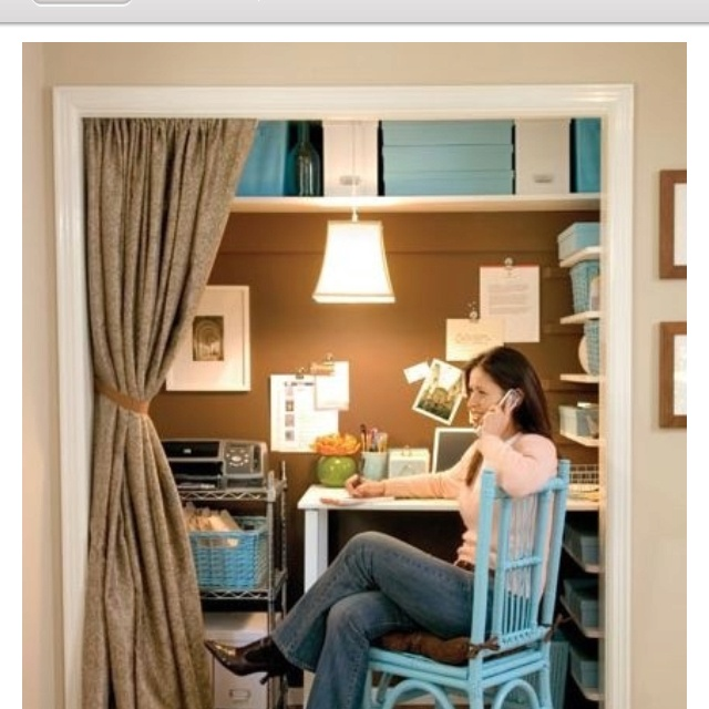 Guest Room, Closets Offices, Offices Spaces, Small Offices, Offices Ideas, Closet Office, Small Spaces, Closets Desks, Home Offices