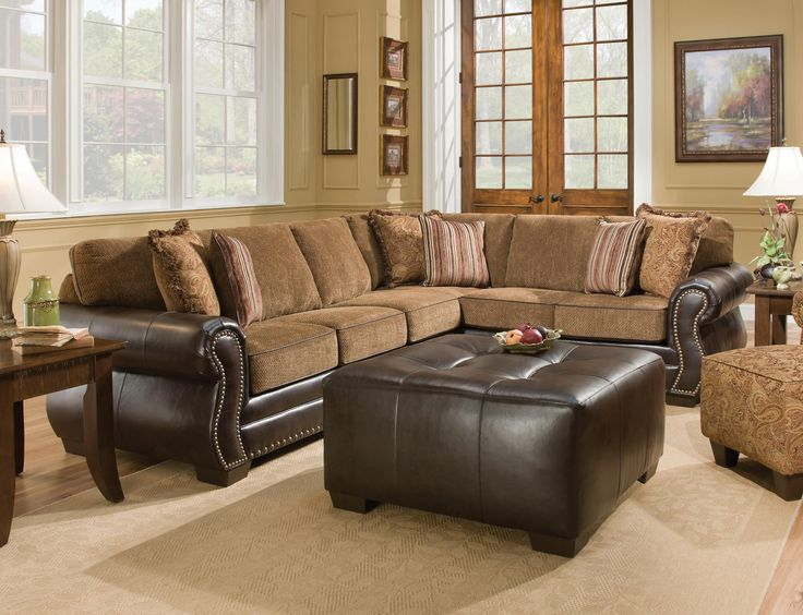 Chestnut 2 Piece Sectional The Collection Lends A Touch Of Elegance To Any