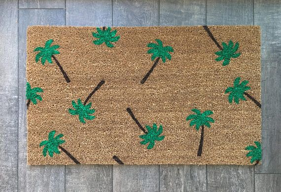 Palm Tree doormat / Custom Outdoor Welcome Mat / Wedding Gift / Housewarming Gift / Summer Decor / Unique Gift / Gift for Girlfriend