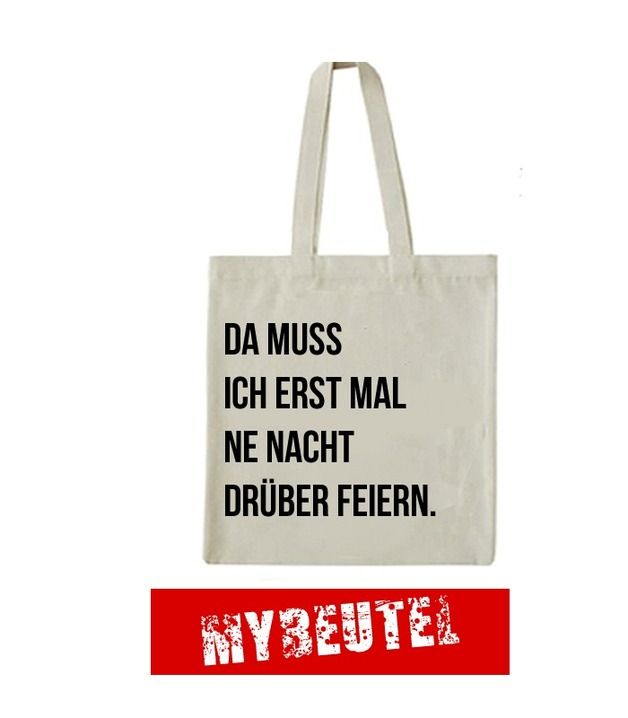 Feiern Jutebeutel // tote bag with typo print by MyBeutel via DaWanda.com