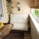 Küçük balkonlar için sade ve hoş bir balkon dekorasyonu örneği