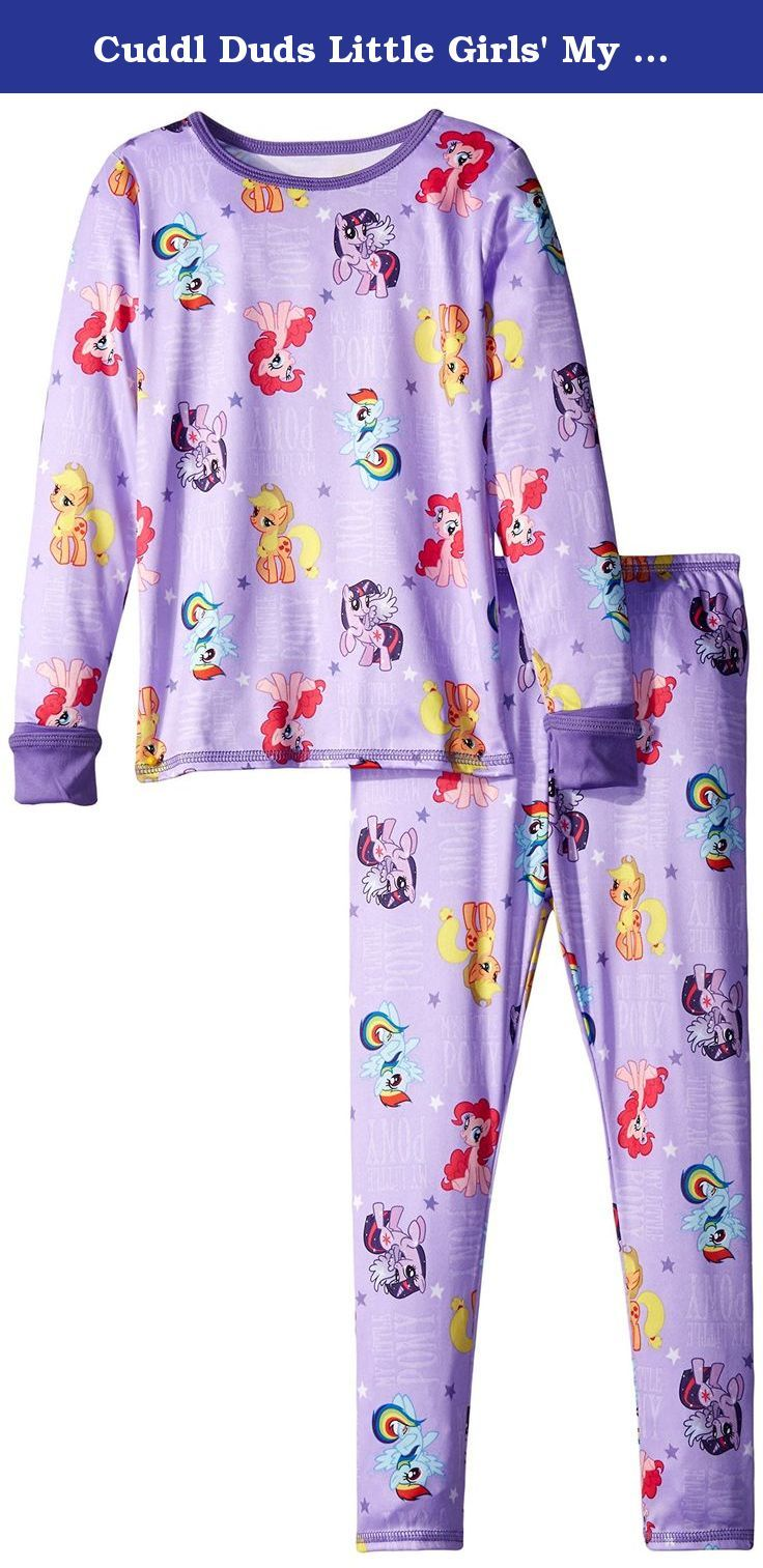 Cuddl Duds Little Girls' My Little Pony Toddler Essential Long Underwear Set, Purple, 2T/3T. This cozy and comfortable Cuddl Duds set will keep her warm and happy made from 100 percent polyester with great prints she will be the coolest kid in the coolest pajamas.
