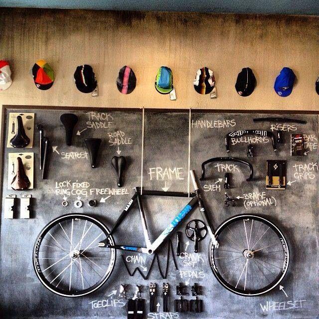 Increíble! La bici como un cuadro!