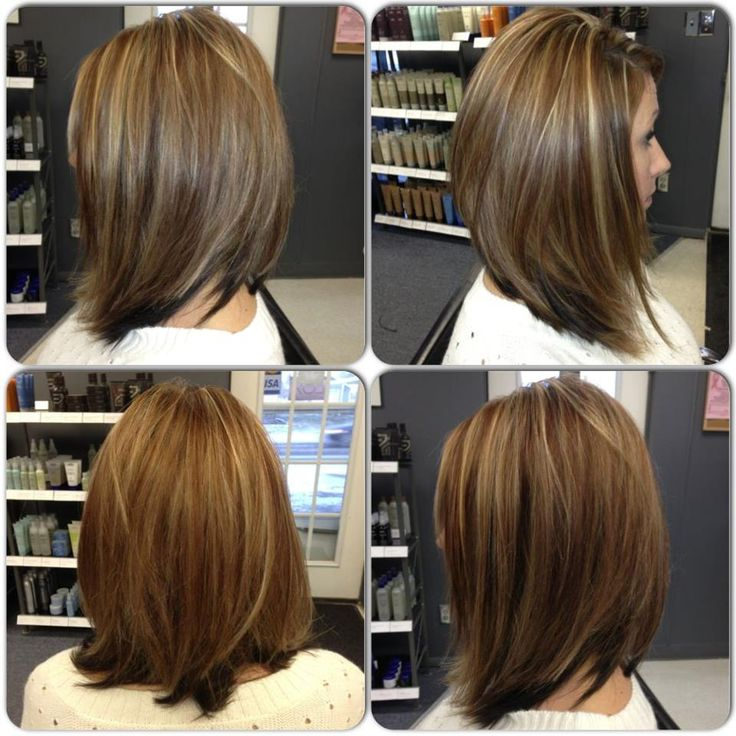 Long BOB By Trisha Fringe Salon Lennon MI | Meduim Length ...