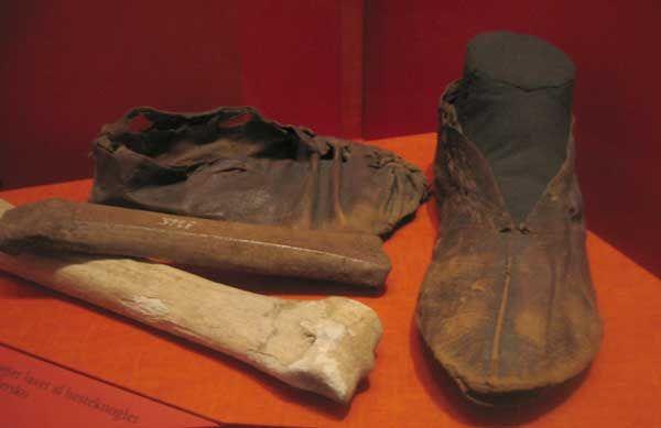 Shoes from Ribe Vikingemuseet, Denmark, ca. 750 A.D.