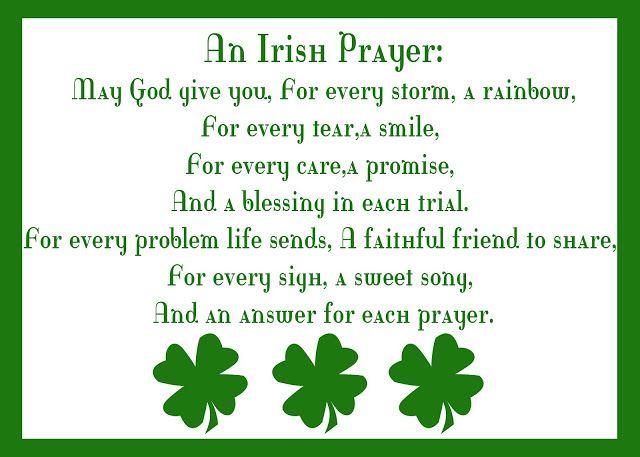 Autumn-Bennett: An Irish Prayer