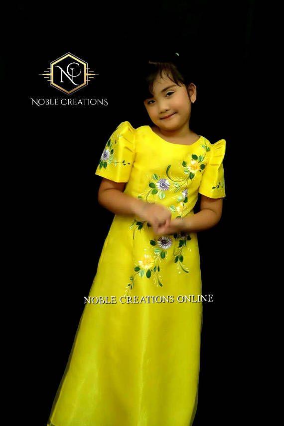 2de8576e6acbc Maria Clara dress for kids/babies | Baby Stuff in 2019 | Filipiniana ...