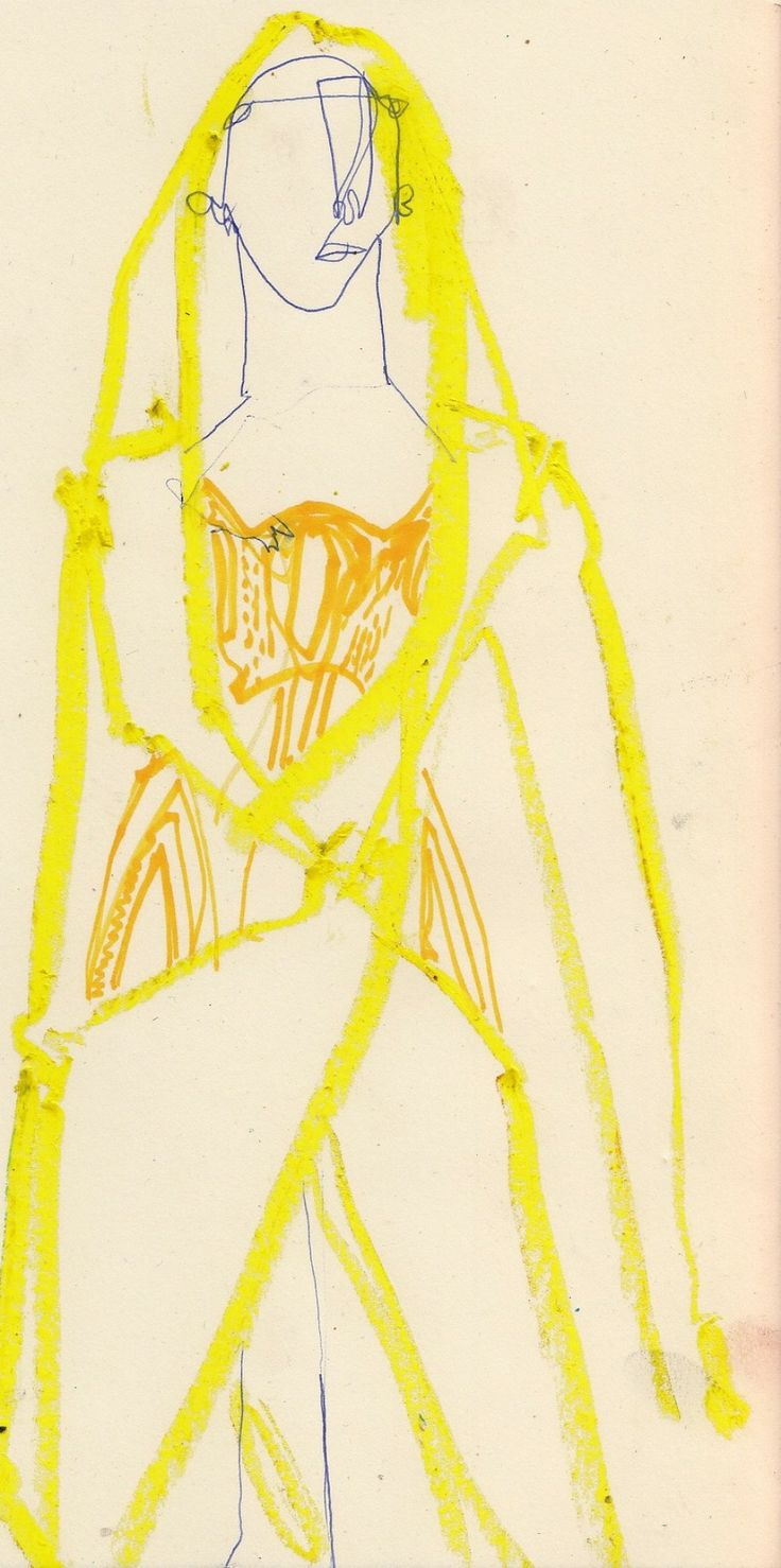 Atelier Versace spring 2014 couture illustration by Charles Jeffrey