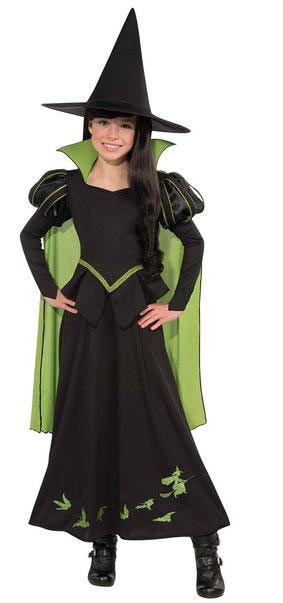 Disfraz niña Bruja malvada del Oeste. El Mago de Oz  Disfrázate de la malvada protagonista de la película musical El Mago de Oz, la Bruja malvada del Oeste.