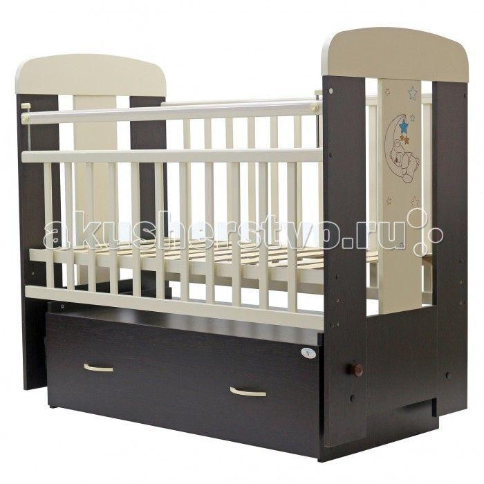 Детская кроватка Топотушки Верона поперечный маятник  Детская кроватка Топотушки Верона поперечный маятник  Украшающая кроватку аппликация в виде милого медвежонка спящего на луне подарит Вашему малышу хорошее настроение.   Удобная и функциональная детская кроватка «Верона» предназначена для новорожденных детей и используется до 4-5 лет. Изготовлена на современном оборудовании по итальянской технологии из натурального экологически чистого массива березы, что обеспечивает прочность и…