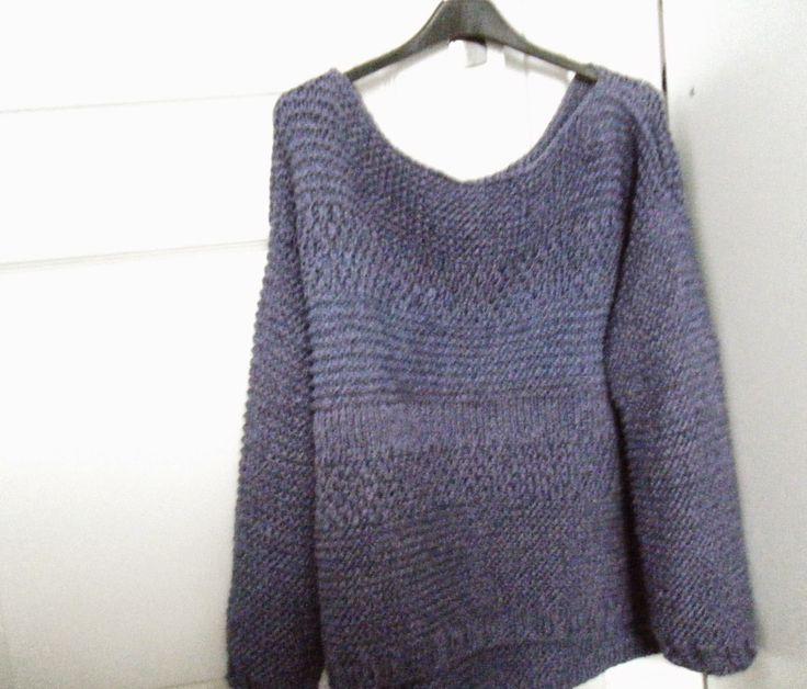 coucou les tricoteuses  j u0026 39 avais envie d u0026 39 un gros pull large