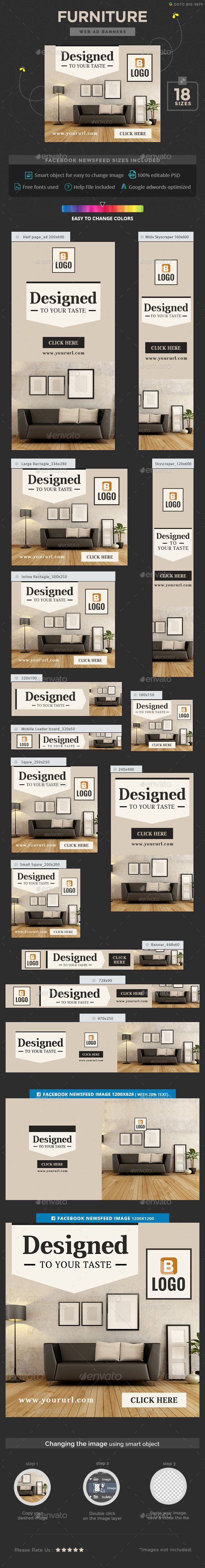 Furniture Banners - Banners & Ads Web Elements Download here : https://graphicriver.net/item/furniture-banners/17812821?s_rank=203&ref=Al-fatih