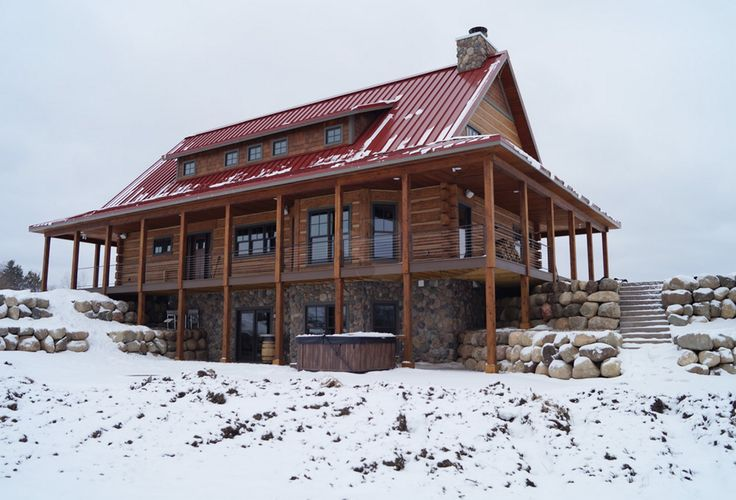 62 best images about everlog concrete log homes on for Cabin builders montana