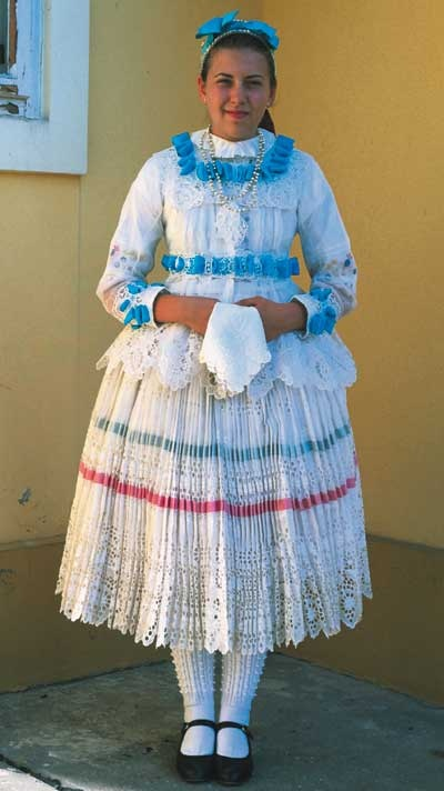Girls' dress reconstruction (the first half of XX century)