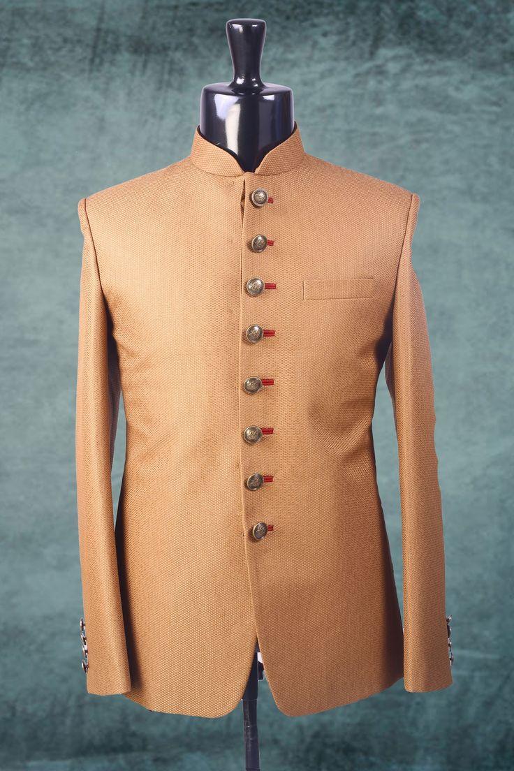 Beige weaved brocade suit in full sleeves-ST234 #beige #weaved #brocade #mens…