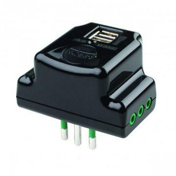 Adattatore triplo salvaspazio con 2 prese USB + 3 prese elettriche - FANTON87801 Marca: FANTON Codice:87801  Descrizione  Ideale...