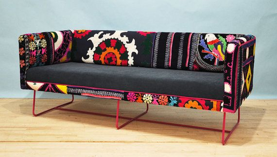 Need this for my living room for real...Suzani box sofa pink feet by namedesignstudio on Etsy, $2500.00