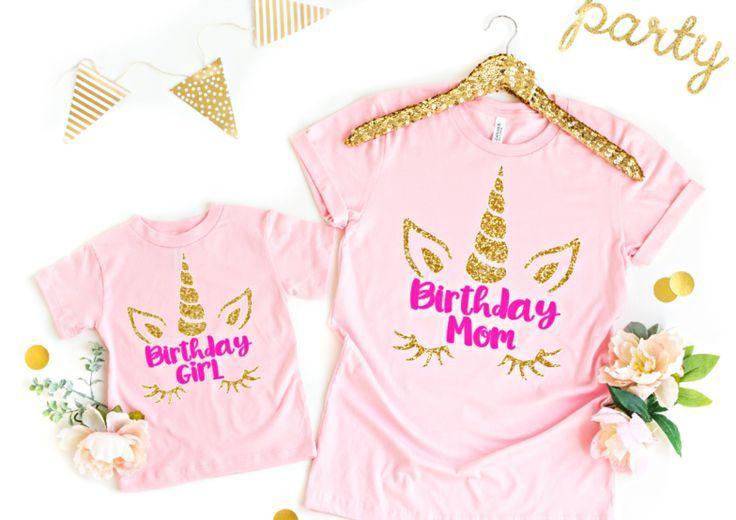 Unicorn theme Birthday Shirt and Sequins short outfit  Unicorn Birthday shirt wmatching hairbow
