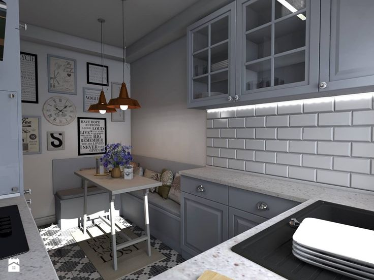 Kuchnia Rustykalna  Średnia zamknięta kuchnia w kształcie  -> Kuchnia Ikea Murator