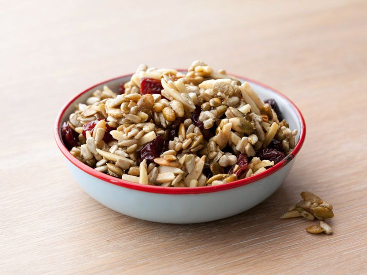 Pumpkin Seed Dried Cherry Trail Mix recipe from Claire Robinson via Food Network