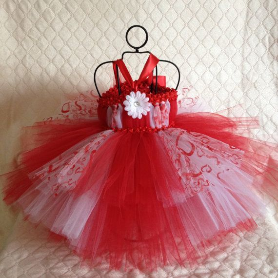 Valentines Day tutu dress baby to 18 months holiday by TheFabuTutu, $30.00